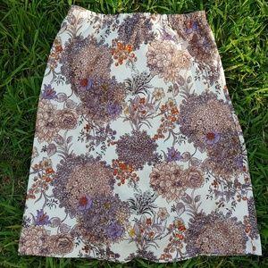Vintage Handmade Floral Print Skirt